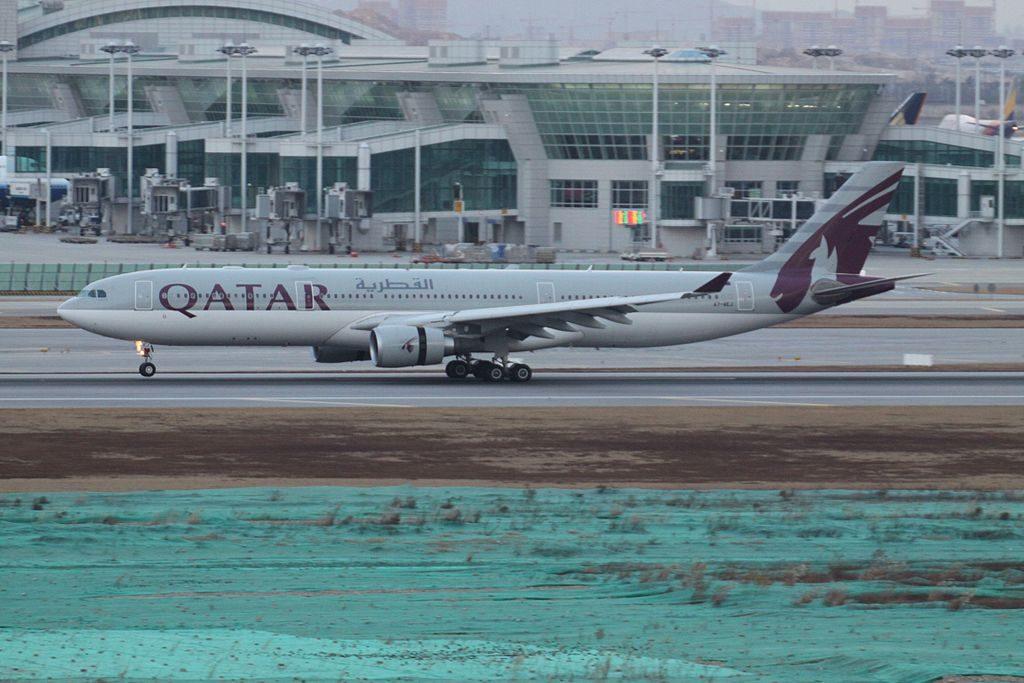 A7 AEJ Airbus A330 300 Qatar Airways at Seoul Incheon International