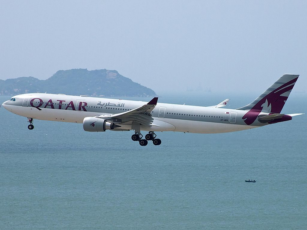 A7 AEO A330 302 Qatar Airways HKG