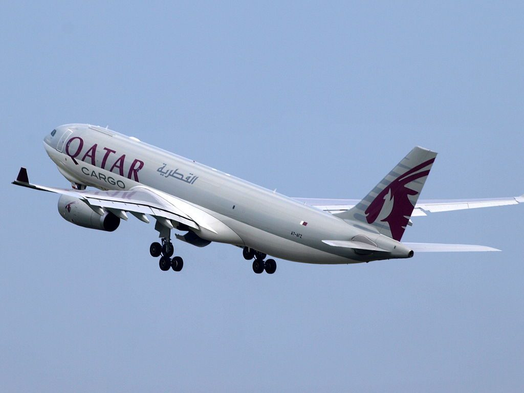 A7 AFZ Qatar Airways Cargo Airbus A330 243F at Amsterdam airport Schiphol