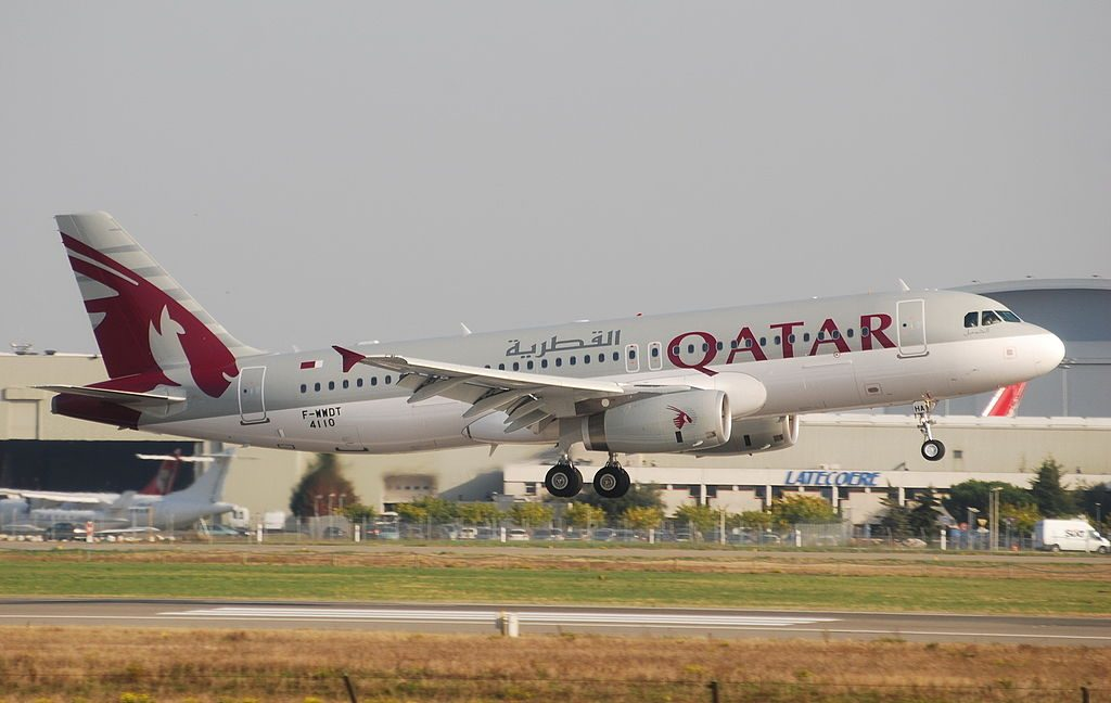 A7 AHA Airbus A320 200 Qatar Airways at Toulouse Blagnac International Airport