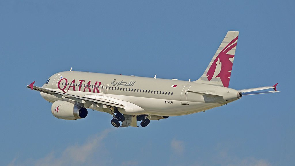 A7 AHI Airbus A320 232 Qatar Airways at Domodedovo International Airport