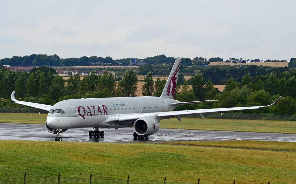 A7 ALJ Airbus A350 941 Qatar Airways at Edinburgh International Airport