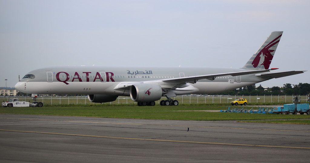 A7 ALL Qatar Airways Airbus A350 941 at Toulouse Blagnac Airport