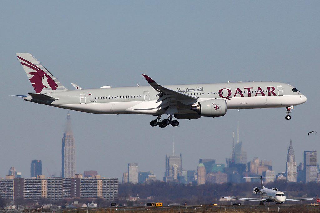 A7 ALN Airbus A350 941 Qatar Airways at New York JFK