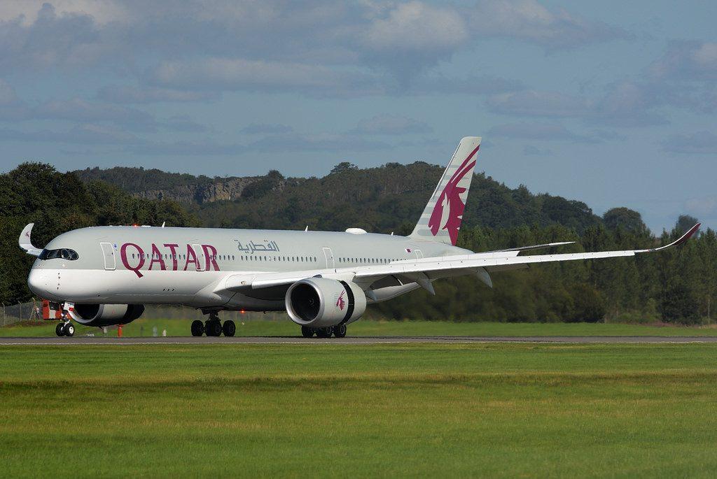 A7 ALX Qatar Airways Airbus A350 941 Edinburgh Airport Scotland