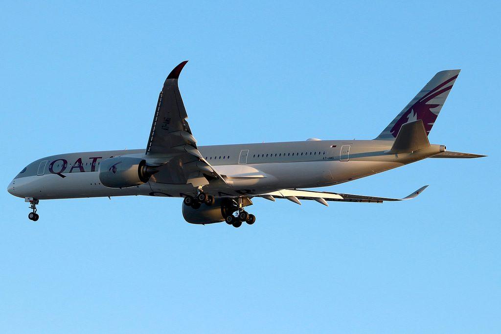 A7 AMG Airbus A350 941 Qatar Airways at New York JFK
