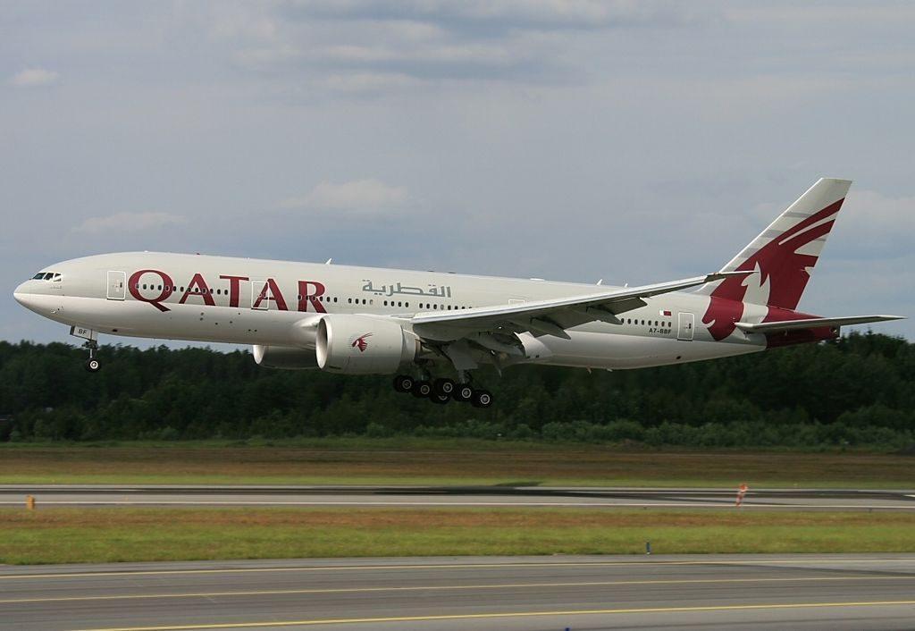 A7 BBF Boeing 777 2DZLR Qatar Airways at Stockholm Arlanda Airport