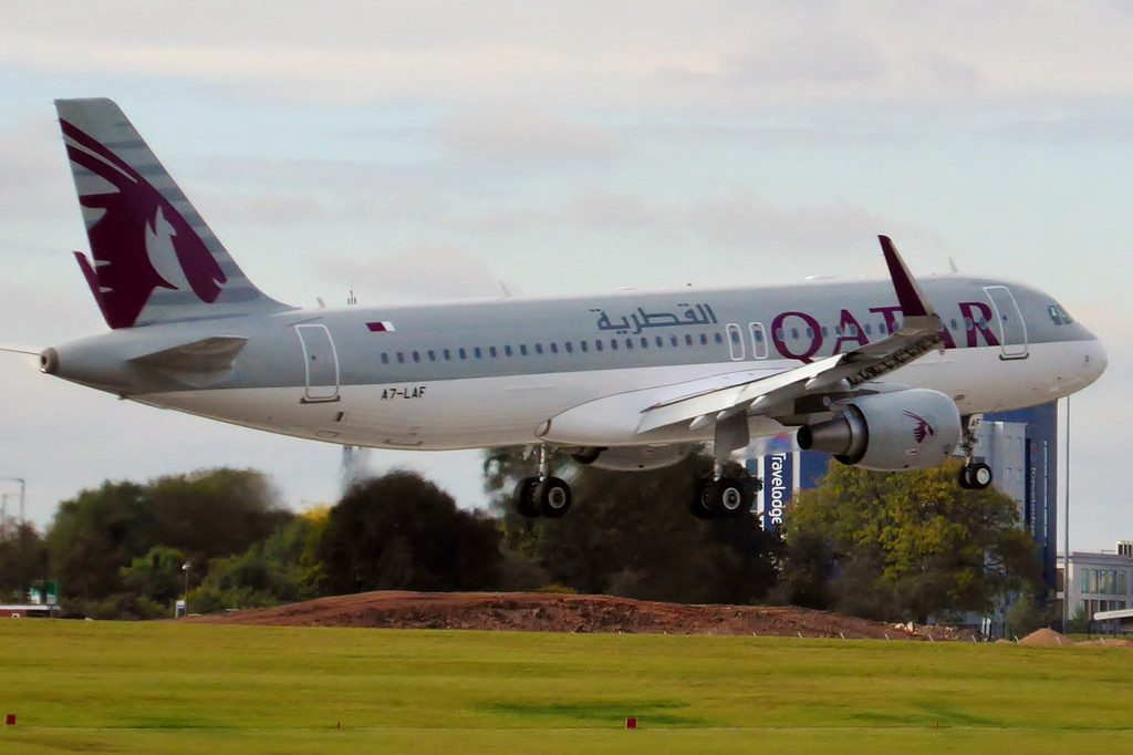 A7 LAF Airbus A320 214 Qatar Airways at Birmingham Airport
