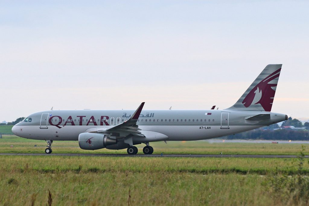 A7 LAH Airbus A320 200 Qatar Airways departed Shannon for Doha