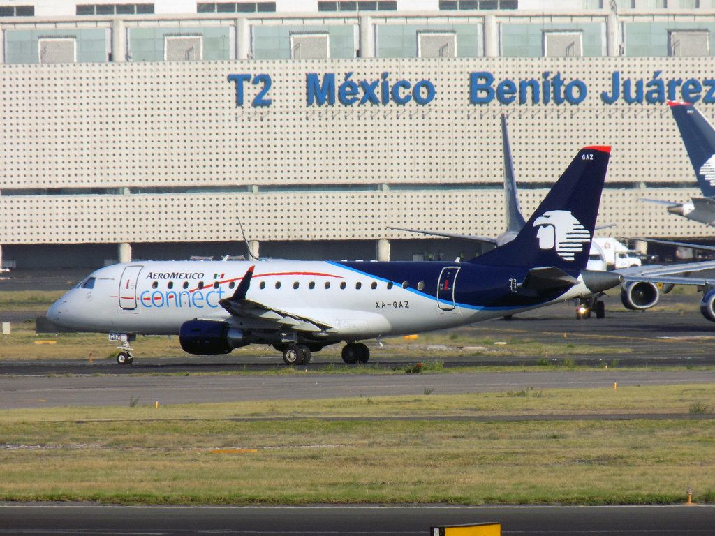 Aeroméxico Connect Embraer ERJ 170STD XA GAZ at Benito Juarez Airport
