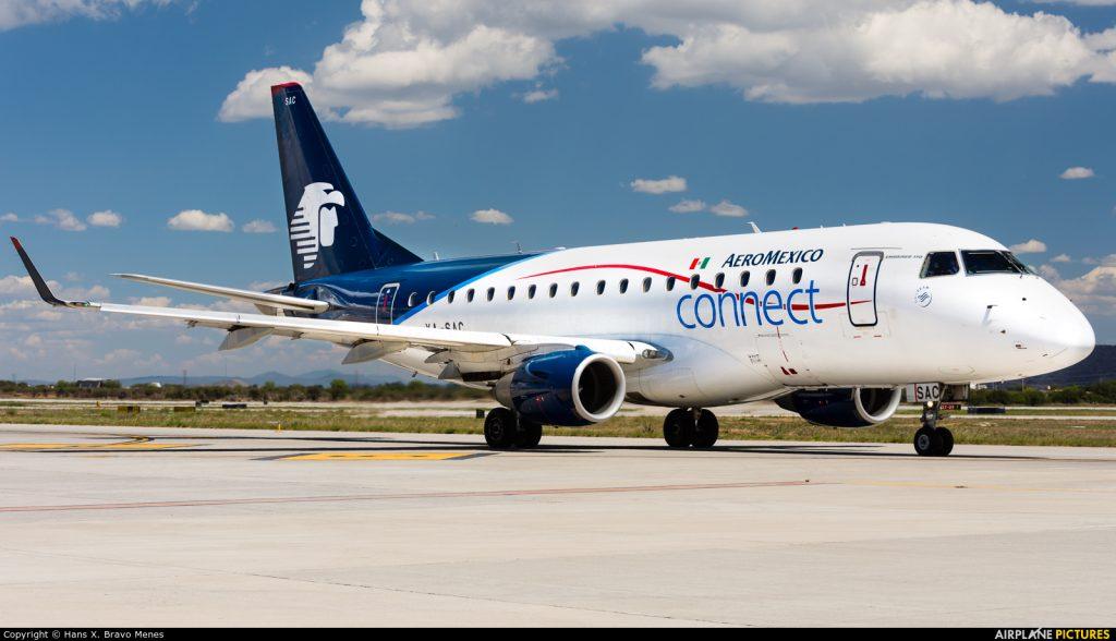 Aeroméxico Connect Embraer ERJ 170STD XA SAC at Quéretaro @Hans X. Bravo Menes