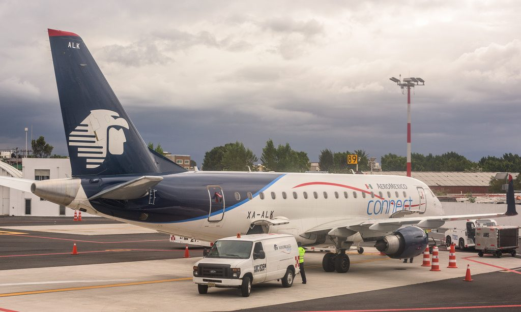 Aeromexico Connect Embraer ERJ 170LR reg XA ALK Parked at Mexico City International Airport
