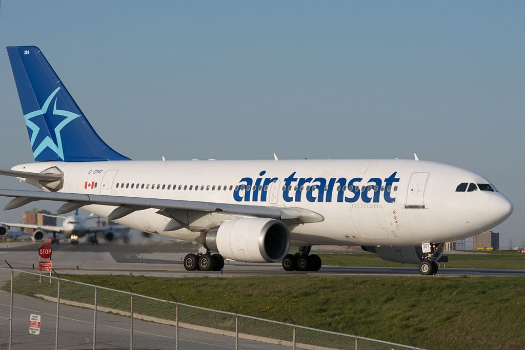 Air Transat Airbus A310 300 C GFAT Lining up for Runway 6L at Toronto Pearson International Airport