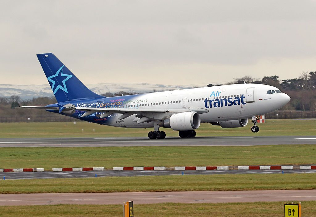 Air Transat Airbus A310 300 C GFAT at Manchester Airport