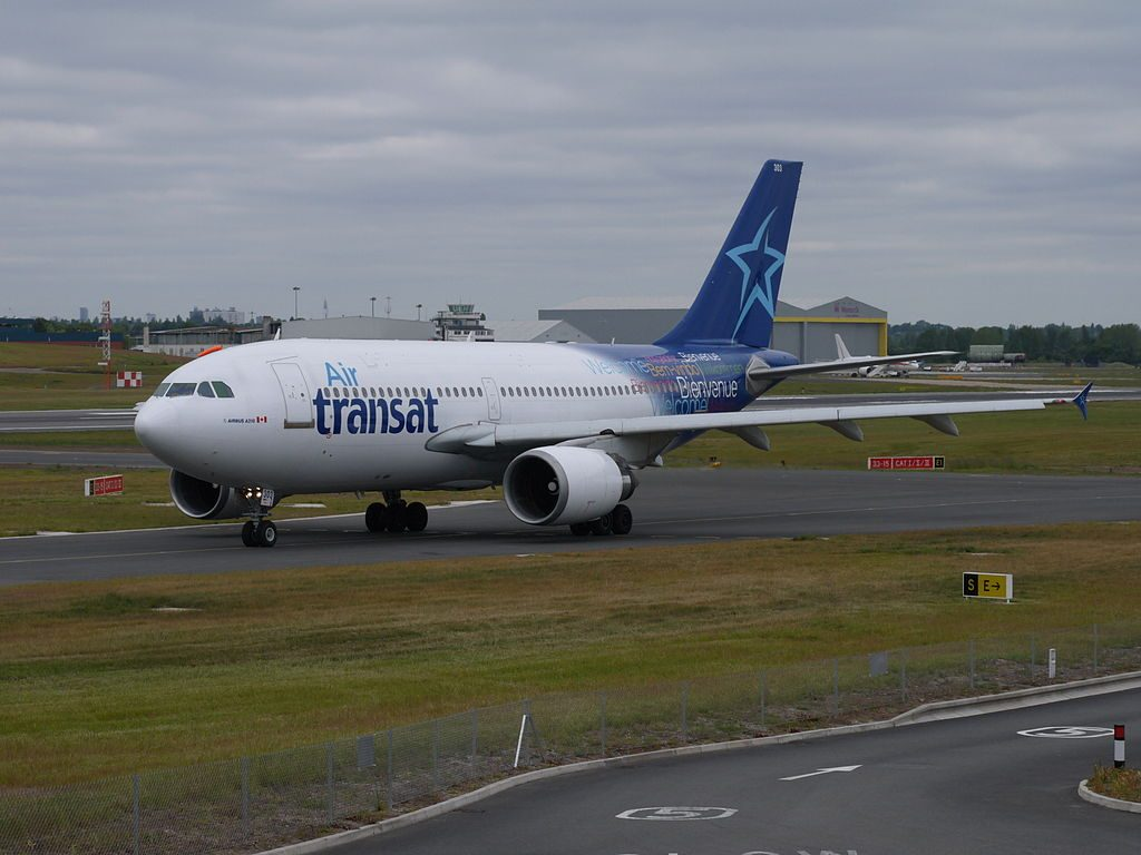 Air Transat Airbus A310 300 C GPAT at Birmingham Airport