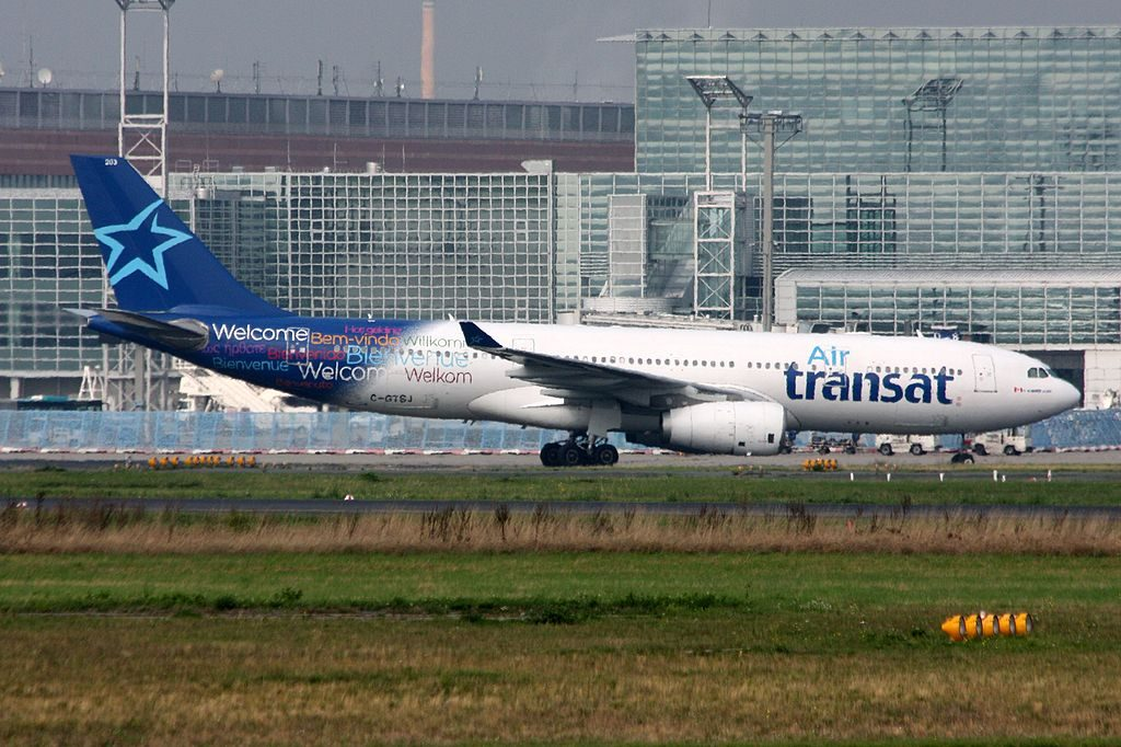 Air Transat Airbus A330 200 C GTSJ at Frankfurt Airport
