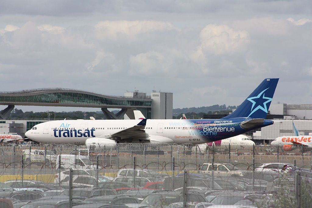 Air Transat Airbus A330 200 C GTSJ at London Gatwick Airport