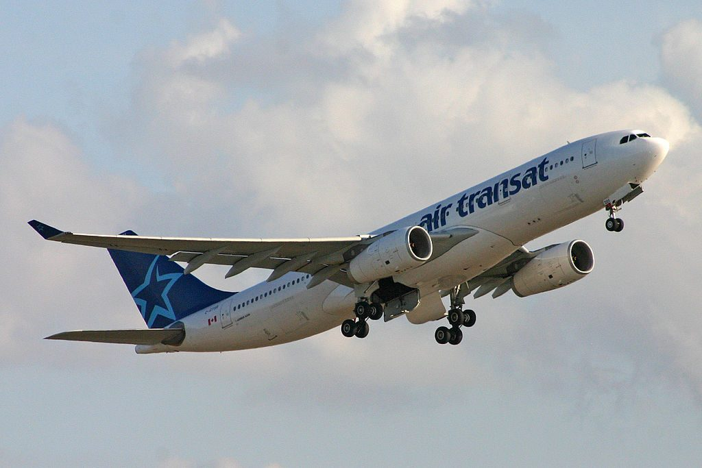 Air Transat Airbus A330 200 C GTSR at Rome Fiumicino Airport