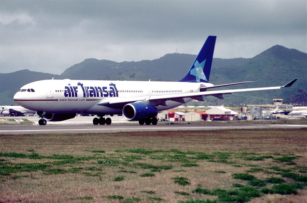 Air Transat Airbus A330 243 C GGTS at Princess Juliana Airport
