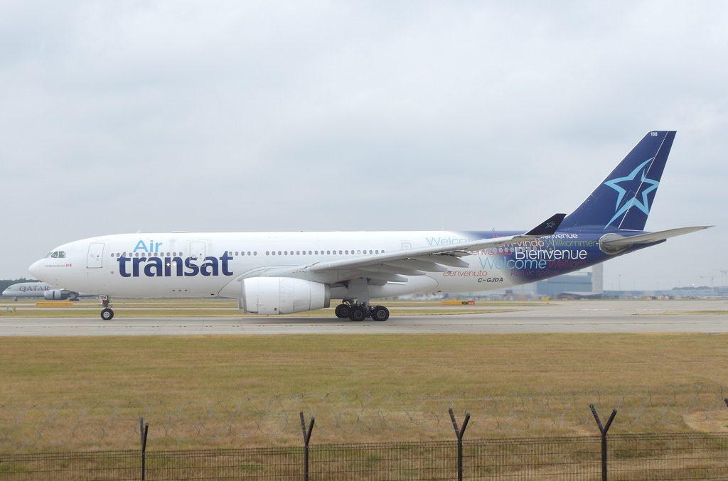 Air Transat Airbus A330 243 C GJDA at Manchester Airport