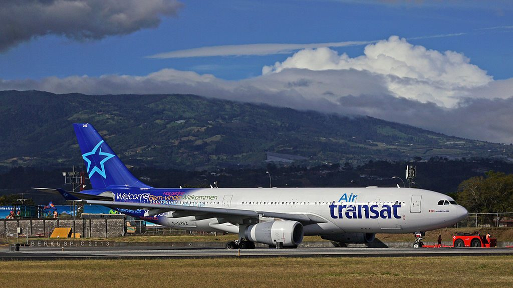Air Transat Airbus A330 243 C GTSZ at Juan Santamaria International Airport