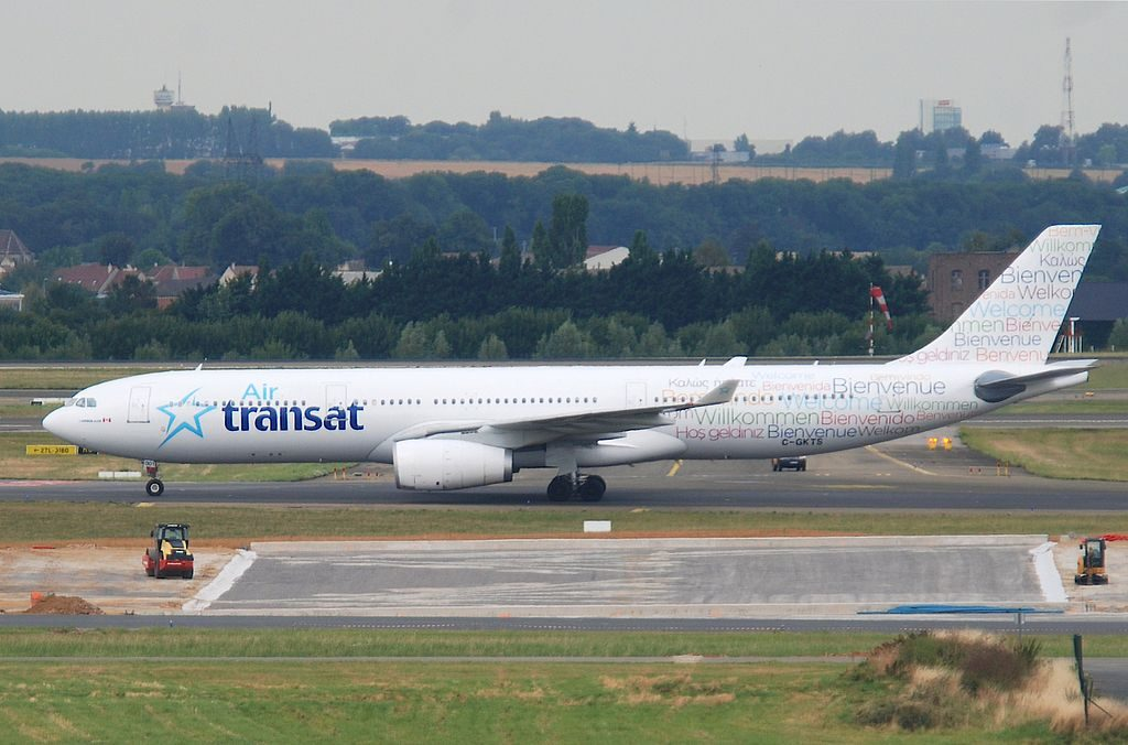 Air Transat Airbus A330 342 C GKTS at CDG Paris Charles de Gaulle Airport
