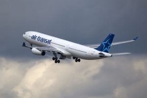 Air Transat Aircraft Fleet Airbus A330 342 C GTSO departing Paris Charles de Gaulle Airport