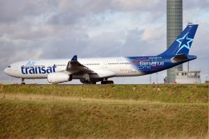 Air Transat Aircraft Fleet Airbus A330 342 C GTSO taxiing at Paris Charles de Gaulle Airport