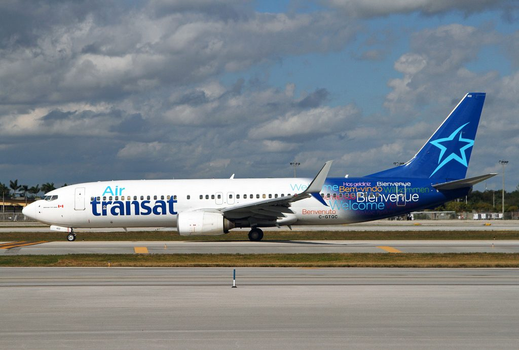 Air Transat C GTQC Boeing 737 800 at FLL Fort Lauderdale Hollywood International Airport