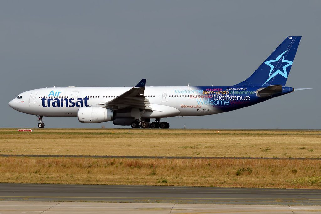 Air Transat C GUBC Airbus A330 243 at Paris Charles de Gaulle Airport