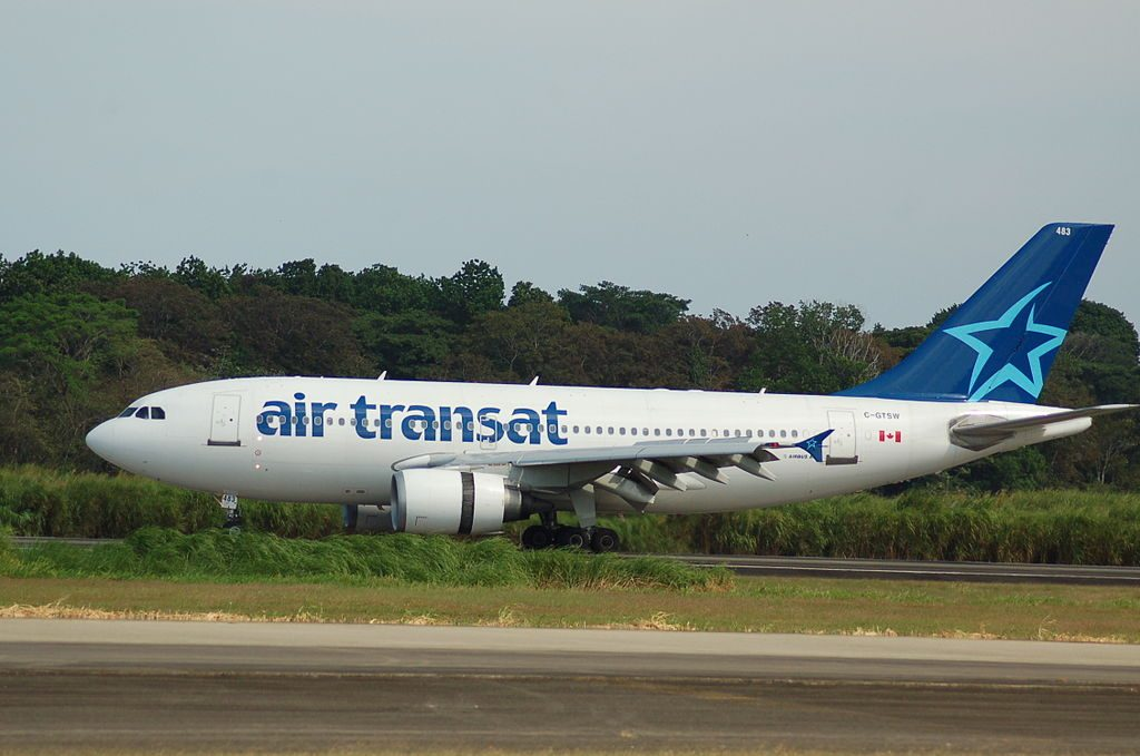 Airbus A310 300 of Air Transat C GTSW at Panama City Tocumen International Airport