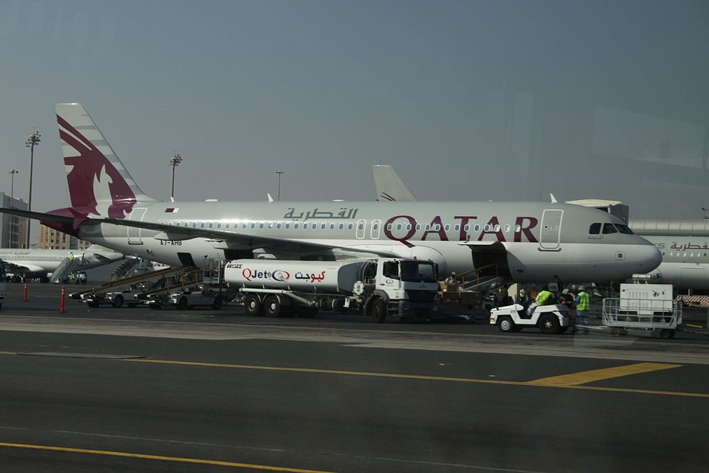 Airbus A320 200 of Qatar Airways A7 AHB at Doha International Airport