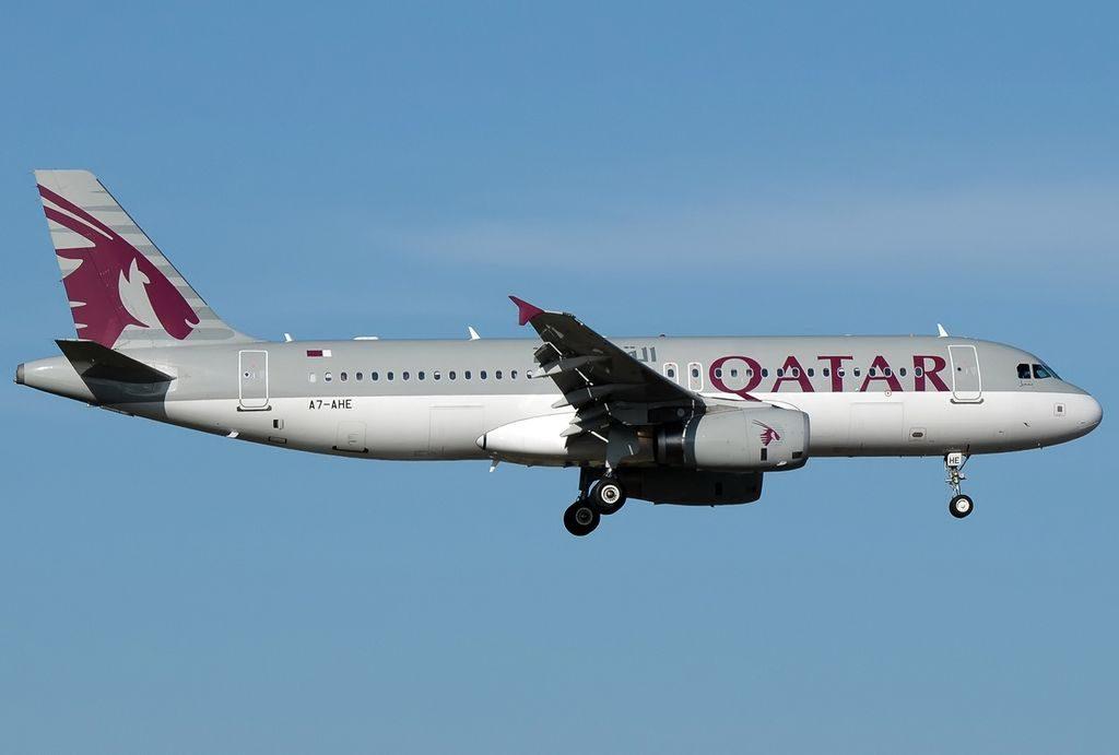Airbus A320 232 Qatar Airways A7 AHE at Roma Leonardo da Vinci Fiumicino LIRF Italy