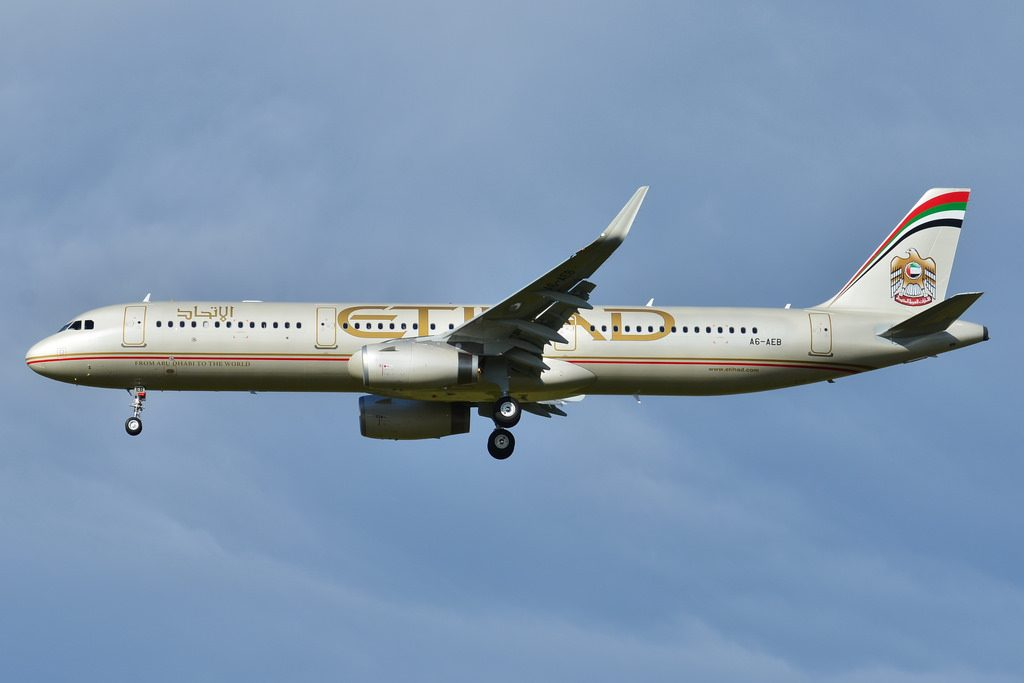Airbus A321 200 Etihad Airways ETD A6 AEB MSN 6108 at Toulouse Blagnac Airport