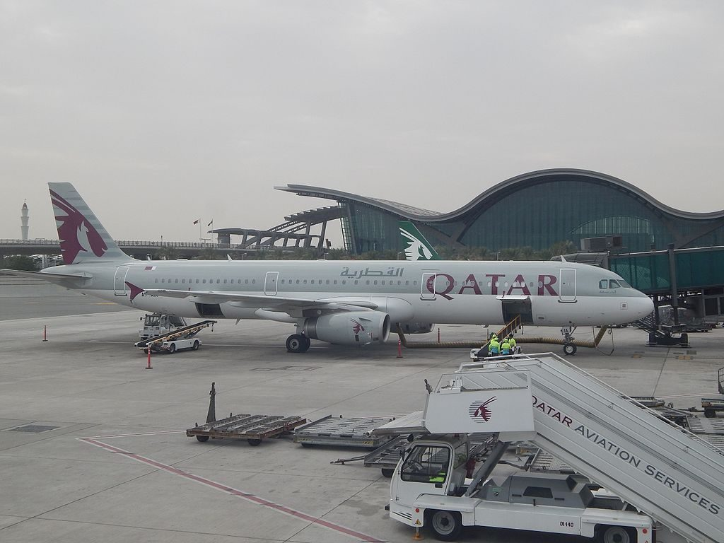 Airbus A321 231 Qatar Airways Registration A7 AIA at Doha Airport