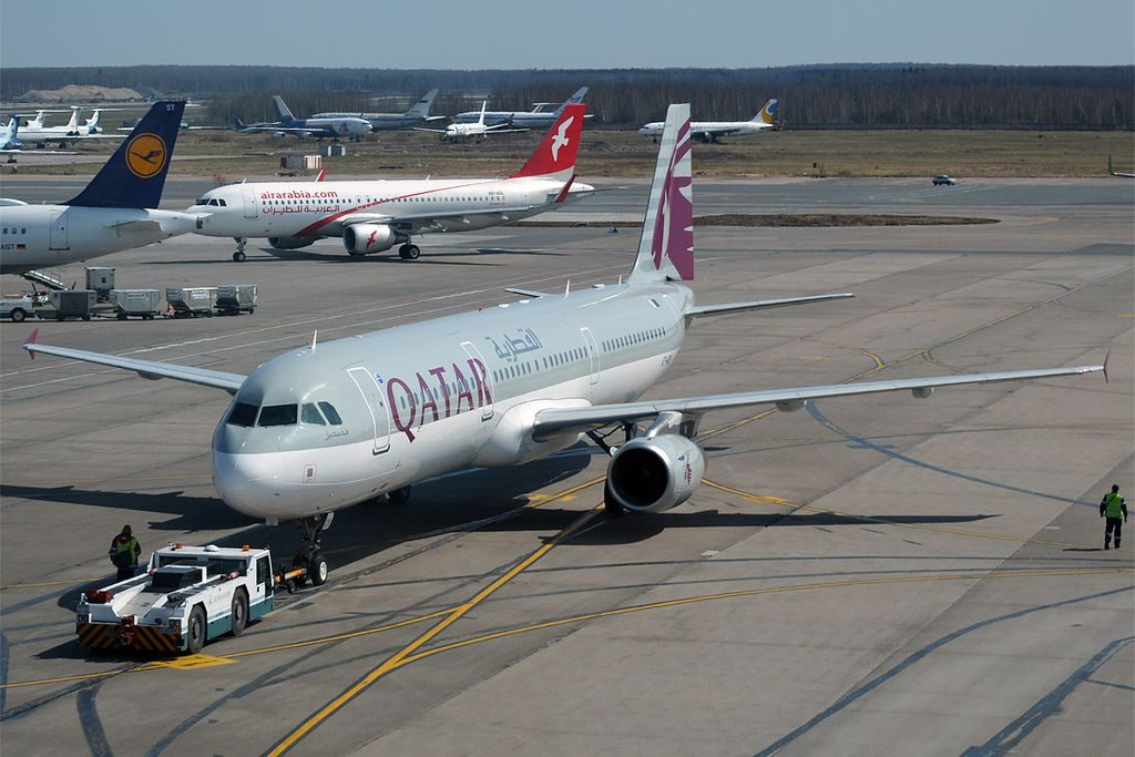 Airbus A321 231 of Qatar Airways A7 ADV at Domodedovo International Airport