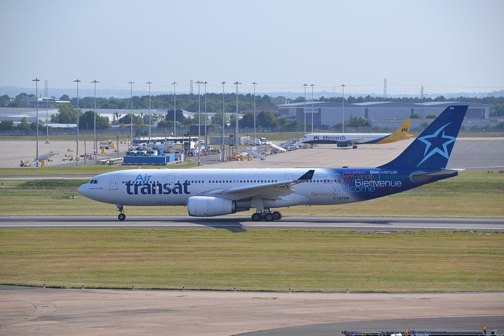 Airbus A330 200 of Air Transat C GTSN departing rwy33 at Birmingham BHX