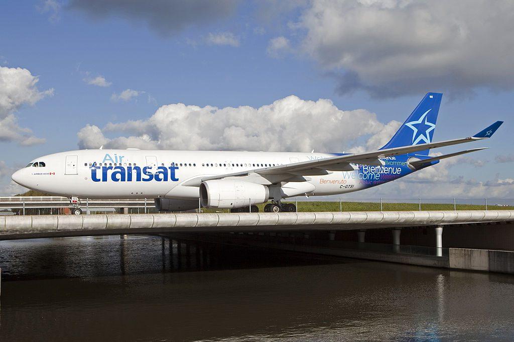 Airbus A330 200 of Air Transat aircraft fleet C GTSI at Amsterdam Airport Schiphol