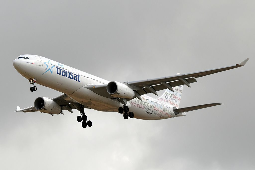 Airbus A330 300 Air Transat Aircraft Fleet C GKTS at Paris Charles de Gaulle Airport