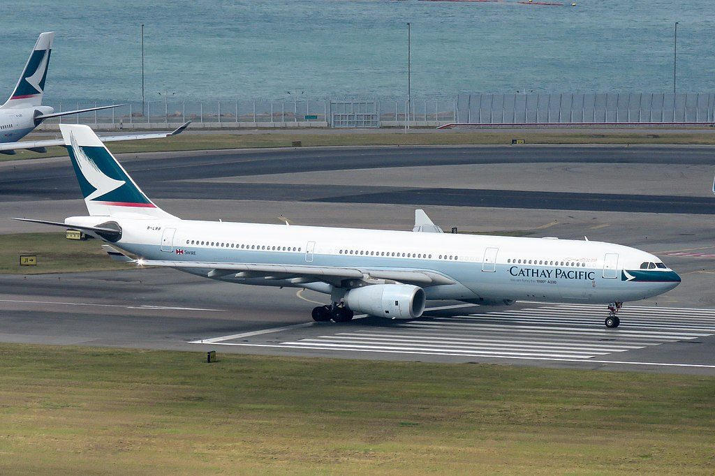 Airbus A330 300 Cathay Pacific B LBB 1000th A330 at Hong Kong International Airport