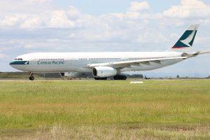 Airbus A330 300 Cathay Pacific Fleet B HLN at Brisbane Airport Australia