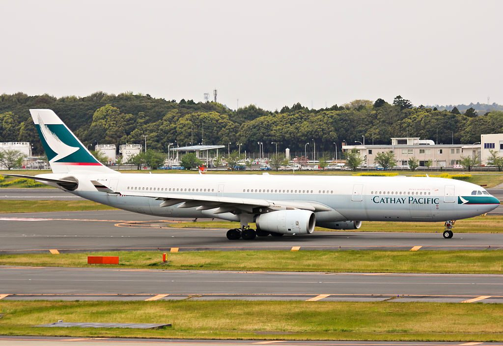 Airbus A330 300 of Cathay Pacific B HLW at Narita International Airport