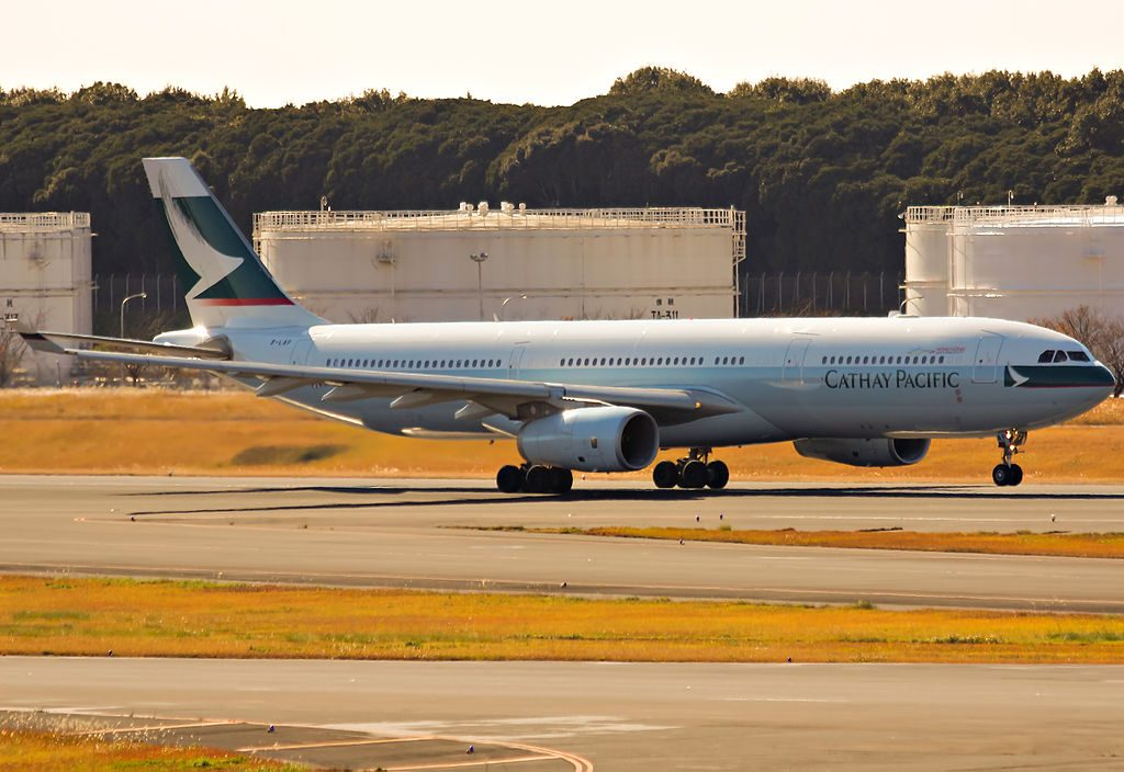 Airbus A330 300 of Cathay Pacific B LAP at Narita International Airport