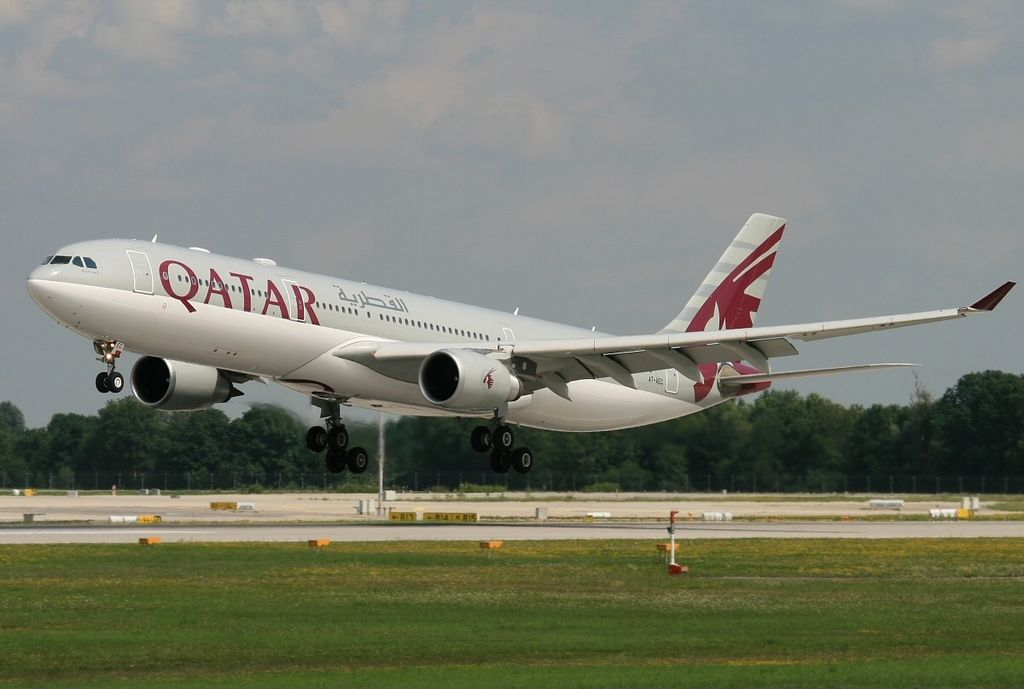 Airbus A330 303X Qatar Airways Registration A7 AEC at Munich Franz Josef Strauss MUC EDDM Germany