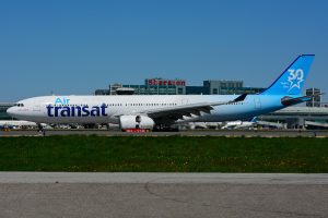 Airbus A330 342 C GCTS Air Transat leased from ILFC in special 30 years Air Transat colours at Lester B. Pearson Airport YYZ