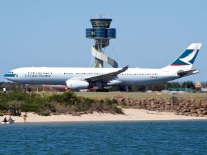 Airbus A330 342X Cathay Pacific B LAF at Sydney Airport Australia