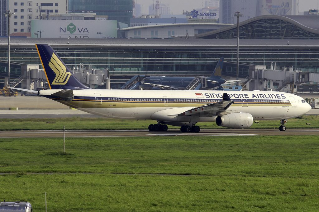 Airbus A330 343 Singapore Airlines 9V STZ at Ho Chi Minh City Tan Son Nhat Airport