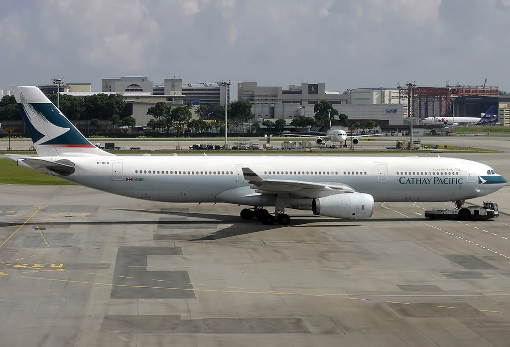 Airbus A330 343X Cathay Pacific Airways B HLQ at Singapore Changi Airport