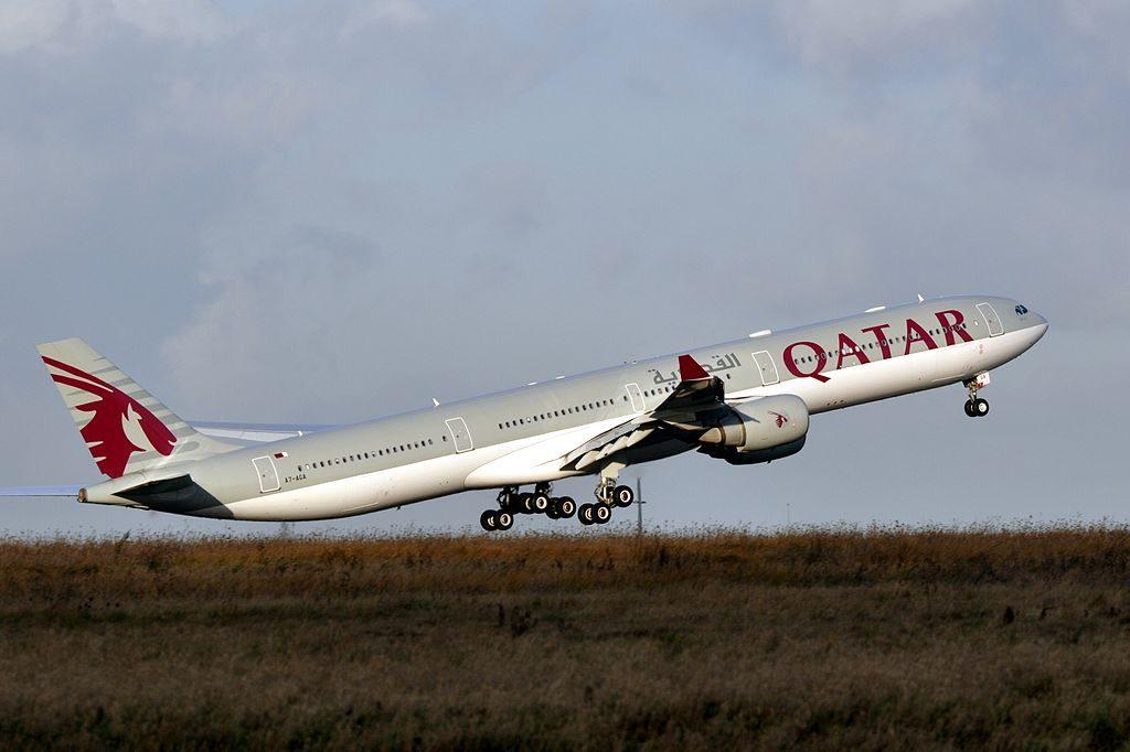 Airbus A340 600 of Qatar Airways A7 AGA at Paris Charles de Gaulle Airport