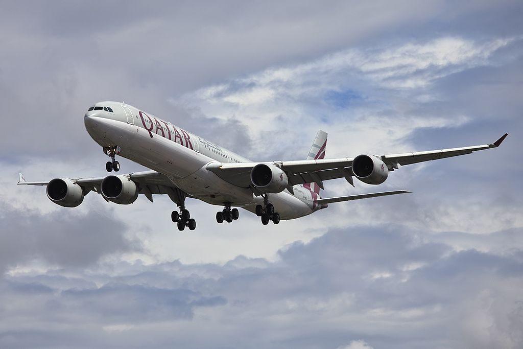 Airbus A340 642 Qatar Airways A7 AGC at London Heathrow